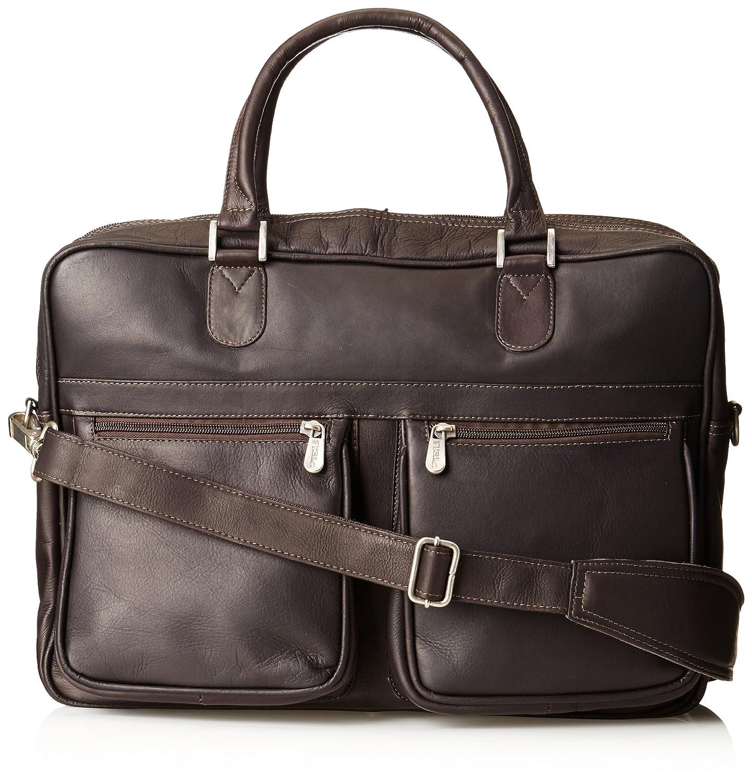 Piel Leather 2822-CHC Checkpoint Friendly Brief- Overnighter - Chocolate B0041SZ4QC