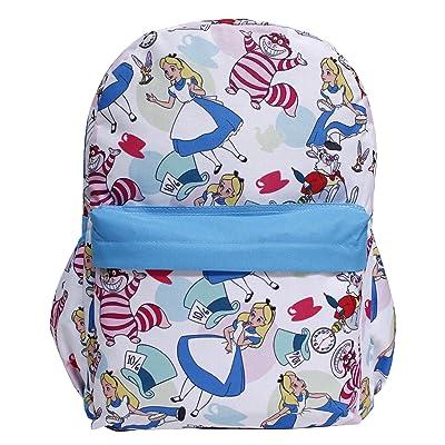 Disney Princess Alice In Wonderland White All-Over Print Large Girls' School Backpack | Kids' Backpacks