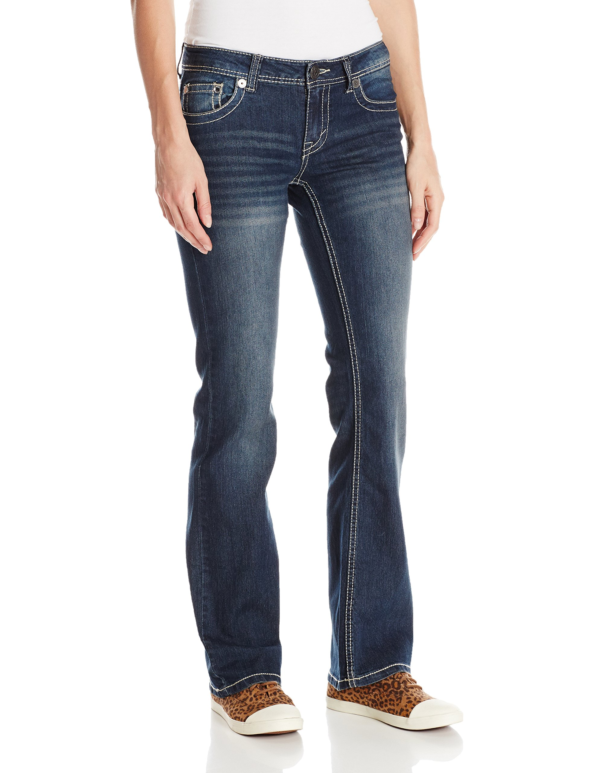 U.S. Polo Assn.. Women's Noelle Boot Cut Jean, Super Dark Indigo-1484, 9