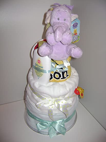 Baby Boy Disney Lumpy el elefante lujo 3-Tier – tarta de pañales Hamper