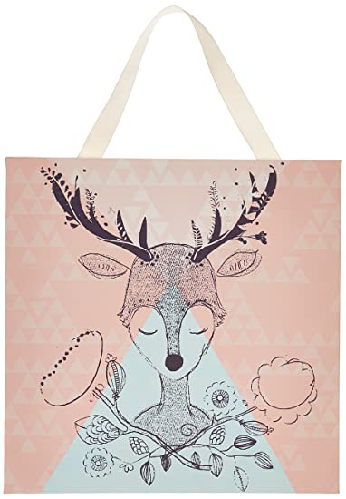 Amazon.com: Lolli Living Canvas Deer Print for Nursery Decor. Screen ...
