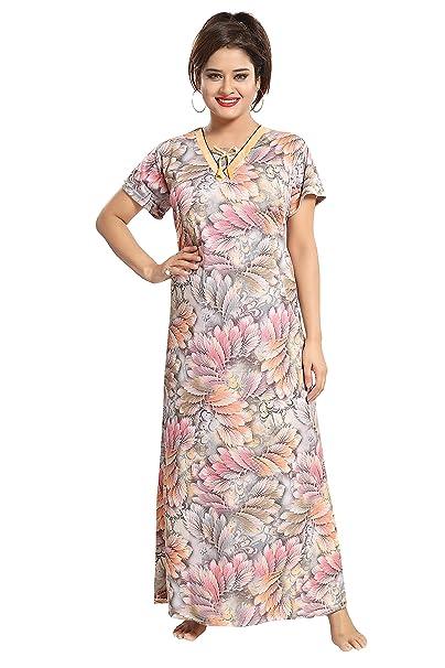 43671bbce3a TUCUTE Girls Women s Hosiery Cotton Night Gown Nightwear Nighty Nightdress  with All