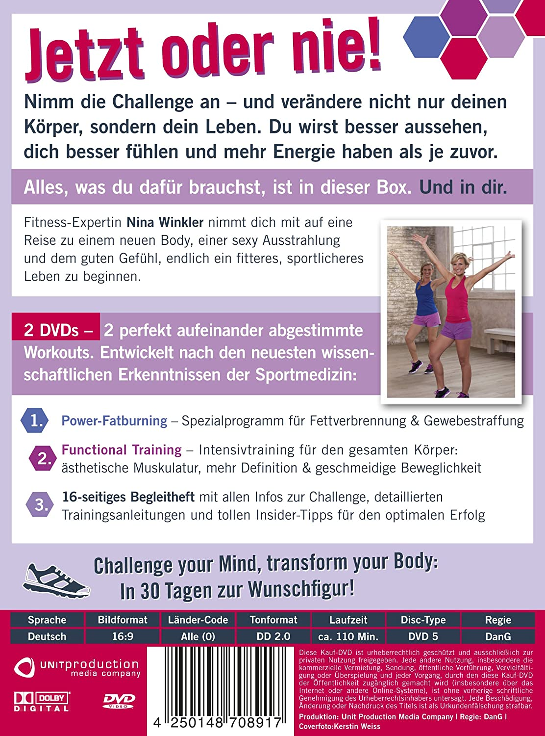 oft Fit for Fun - 30 Tage Bodychallenge [2 DVDs]: Amazon.de: Nina  CS88