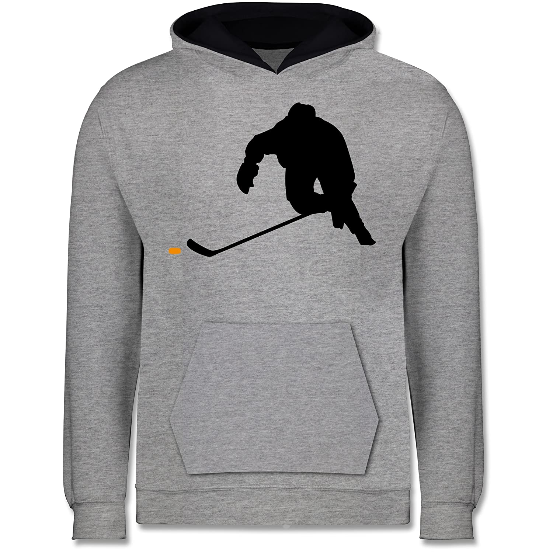 Sport Kind Kinder Kontrast Hoodie Eishockey Sprint