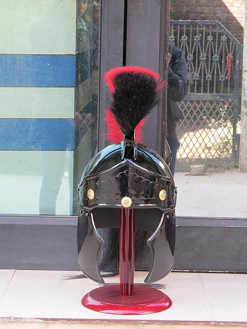 Roman Con Escudo Greco De Madera Negro O Rojo Soporte Casco iPwkuTOXZ