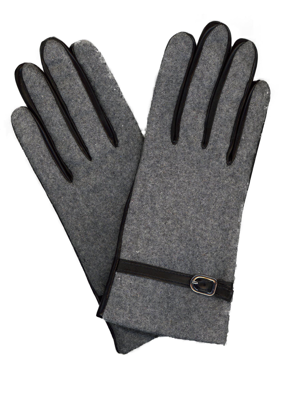 GRANDOE Women's SOLITAIRE Leather Palm Glove, Cashmere Blend Lined