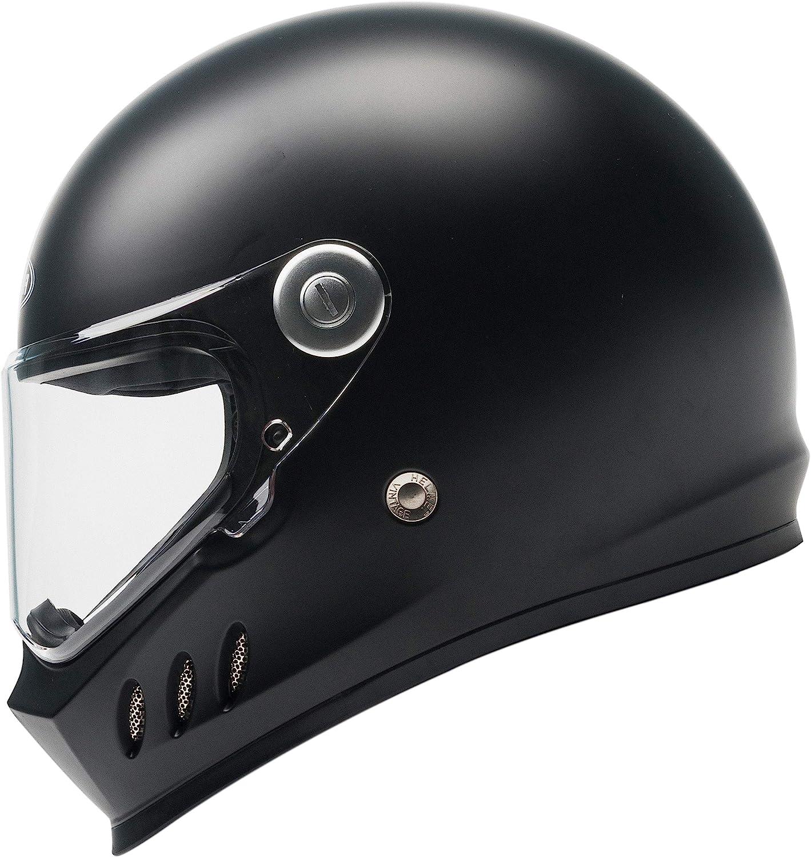 Casco Moto Integral ECE y DOT Homologado - YEMA YM-833 Casco Protector de Motocicleta con Ciclomotor Street Bike Racing con Visera Para Adultos, Hombres y Mujeres - Negro Mate-S