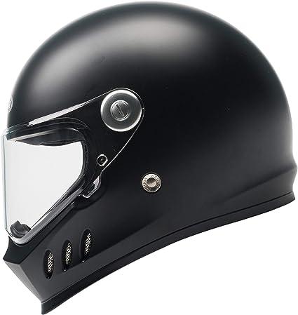 Casco Moto Integral ECE y DOT Homologado - YEMA YM-833 Casco Protector de Motocicleta con Ciclomotor Street Bike Racing con Visera Para Adultos, Hombres y Mujeres - Negro Mate-S: Amazon.es: Coche y