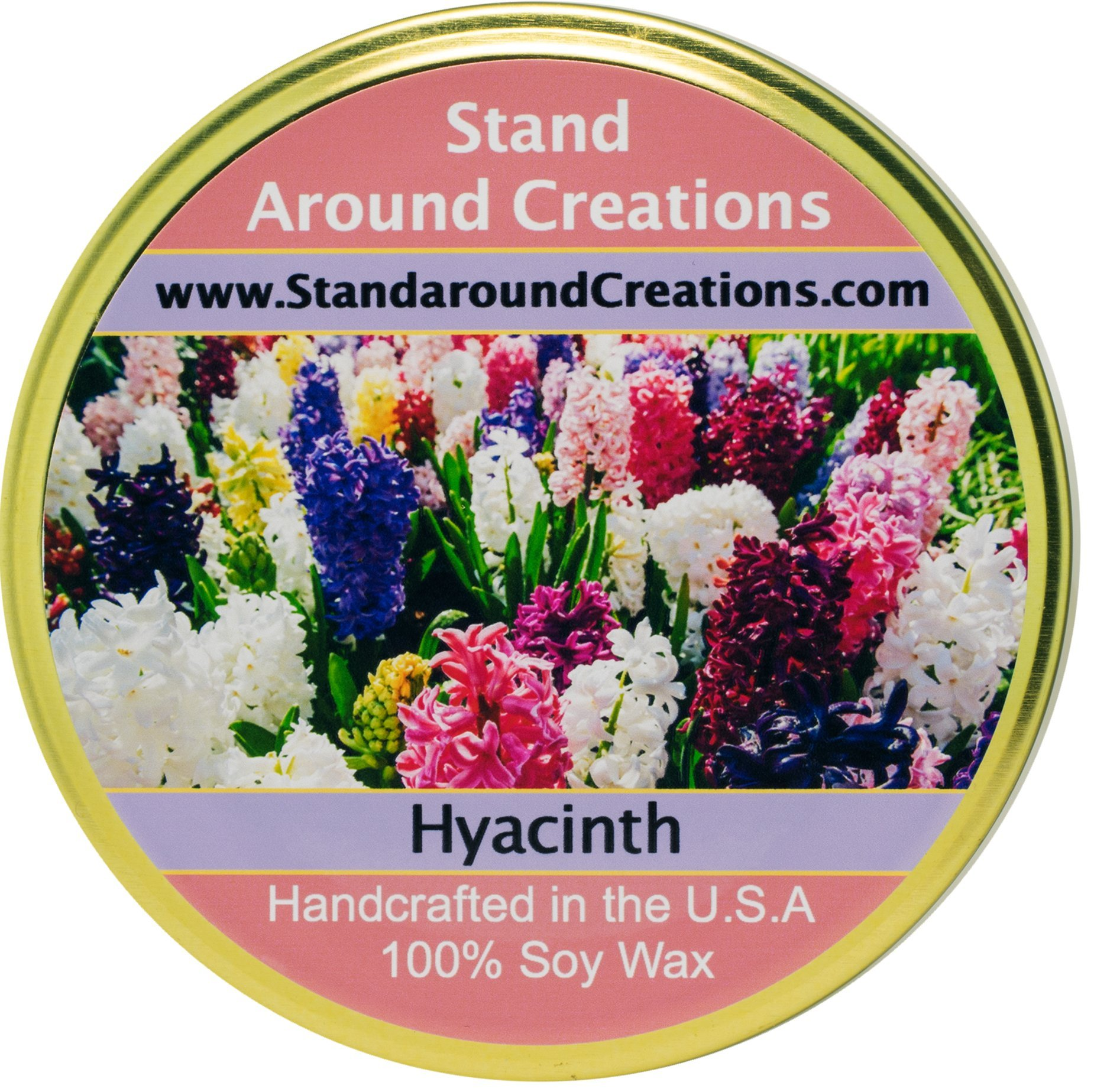 Premium 100% Soy Tureen Candle - 11 oz. - Hyacinth - Lovely notes include lavandin, jasmine, lavender, rose, myrrh.