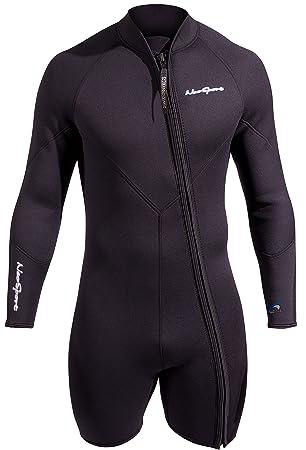 NeoSport hombre 5 mm de neopreno premium Waterman traje de chaqueta, hombre, negro