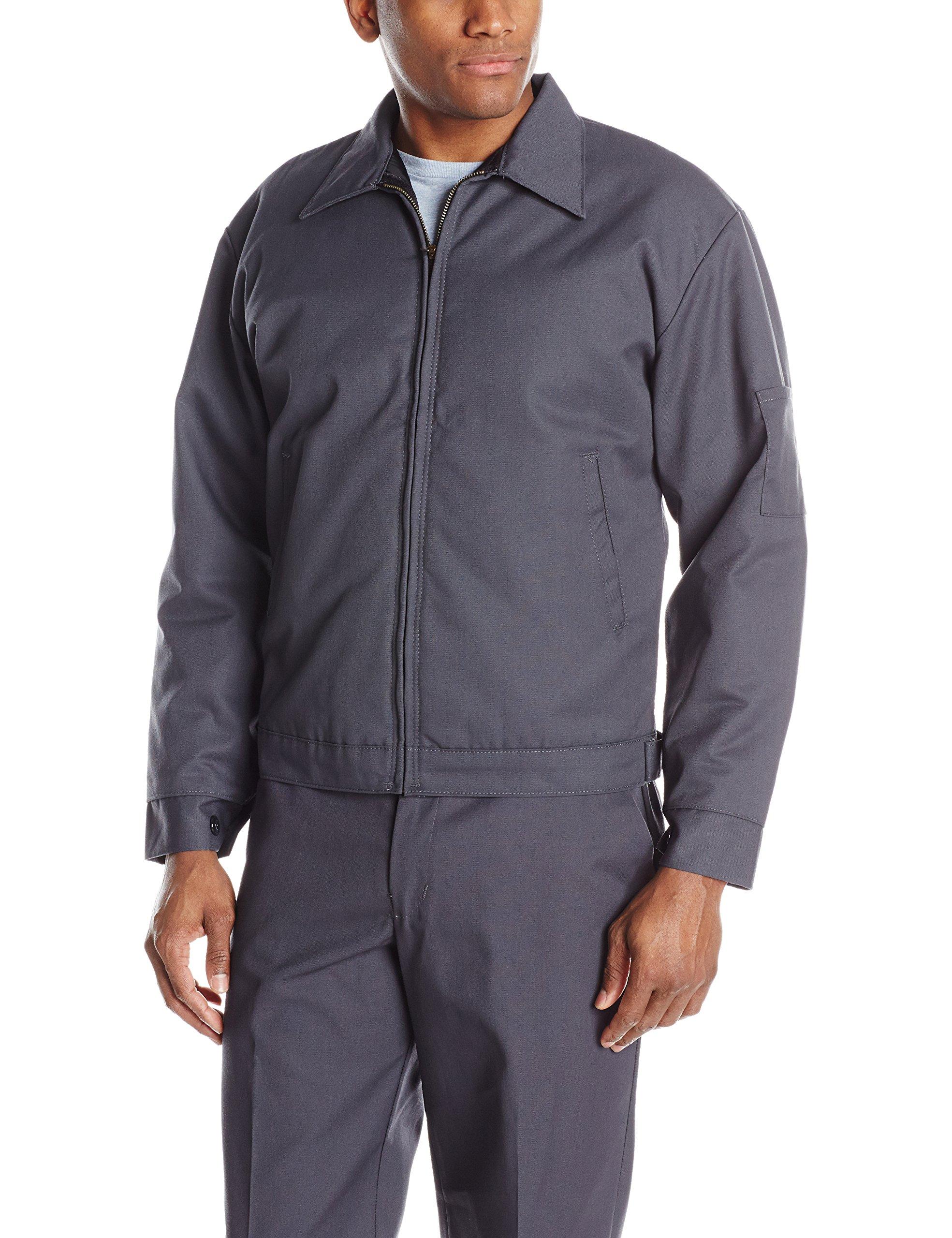 Red Kap Men's Slash Pocket Quilt-Lined Jacket, Charcoal, Long 2X-Large