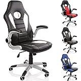 TRESKO® Silla de oficina Racing Gaming giratoria, escritorio ordenador, 4 colores diferentes,…