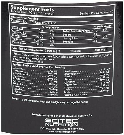 Scitec Nutrition Volumass 35 ganador chocolate holandés 6000 g: Amazon.es: Salud y cuidado personal