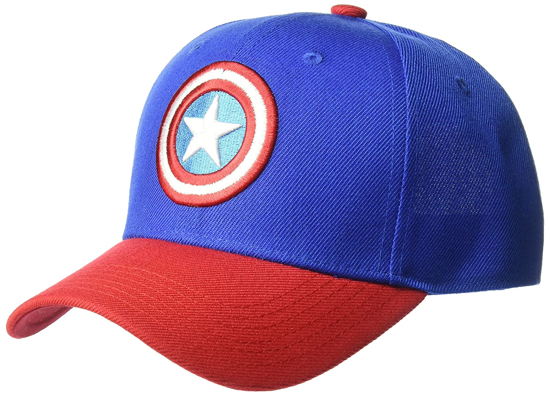 Marvel Gorra de béisbol para Hombre de Capitán América con Escudo Bordado  3D ac63c8df854