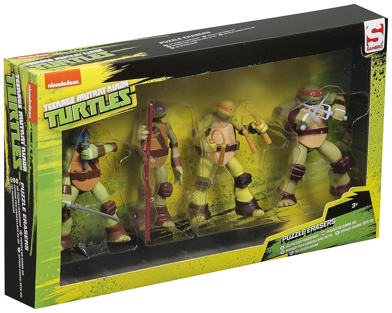 Tortugas Ninja 4 gomas de borrar Puzzle 3d escuela papelería ...