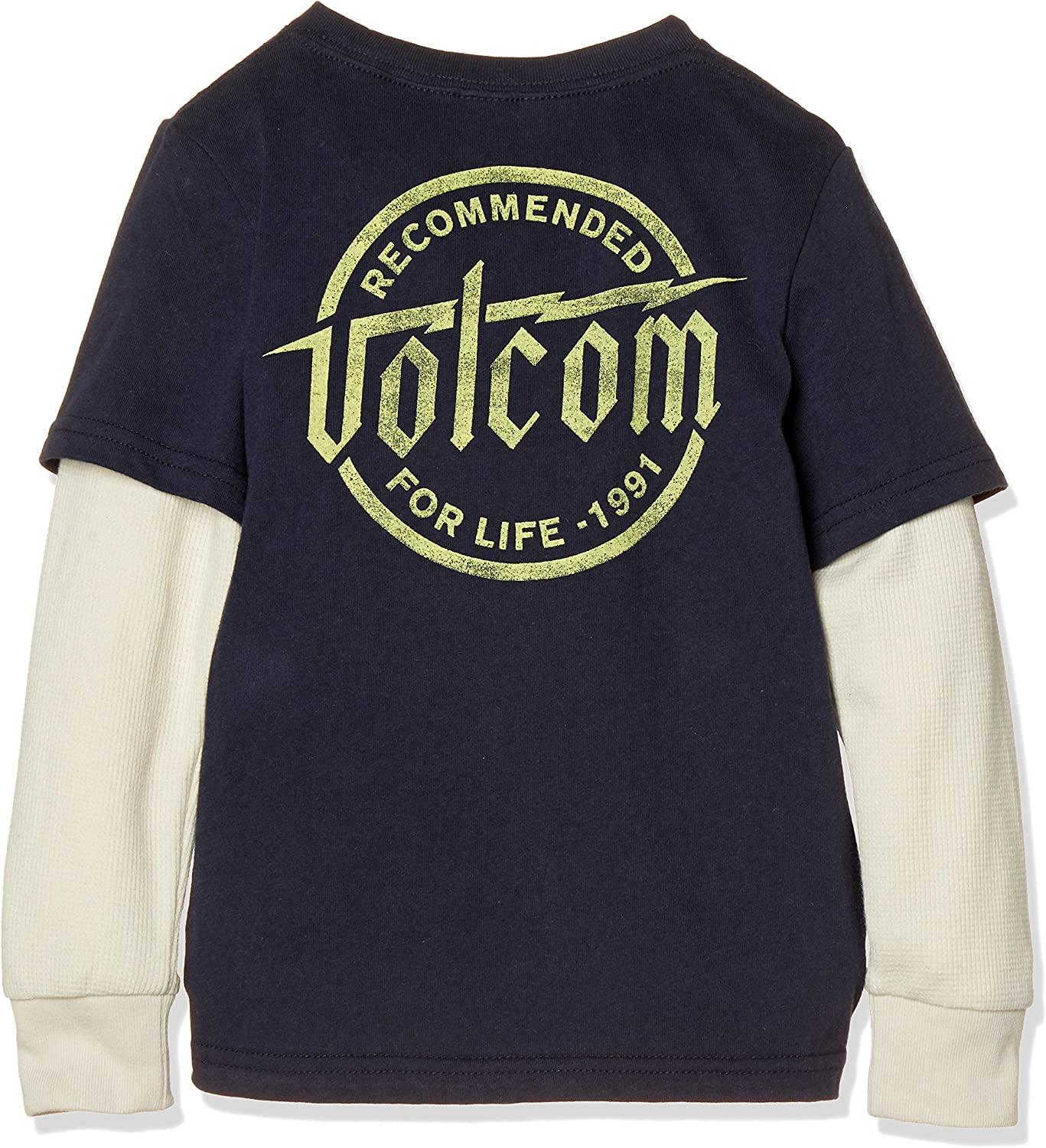 Volcom Boys Little Wilmore Two Fer Thermal Long Sleeve Shirt Youth