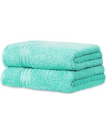 restmor Knightsbridge Set de 2 toallas de baño Extra-Grandes de 100% Algodón Egipcio