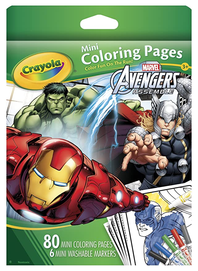 Amazon.com: Crayola Vengadores Mini Páginas para colorear ...
