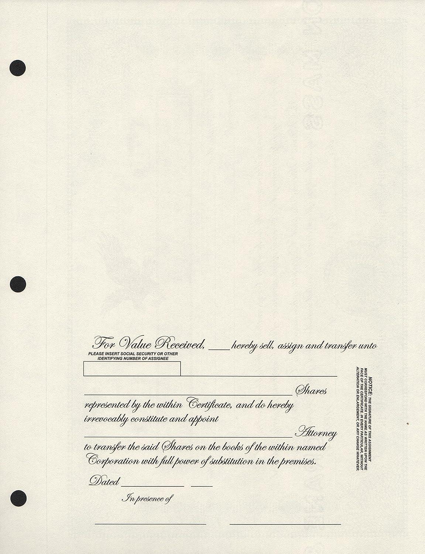 Corporate Stock Certificate