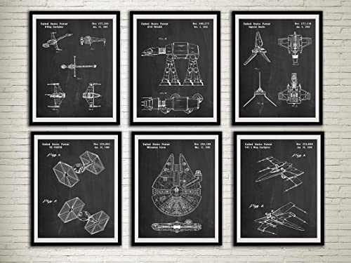 Patent Print Ready To Be Framed! 2 Art Prints Star Wars Tie Fighter