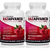 BOGO | RAZADVANCED Raspberry Ketones Weight Loss Complex | 2 Bottle Pack | 120 Capsules | 1200mg Per Serving | All-Natural | Helps Burn Fat* & Suppresses Appetite* | Super Antioxidant | Free Shipping!