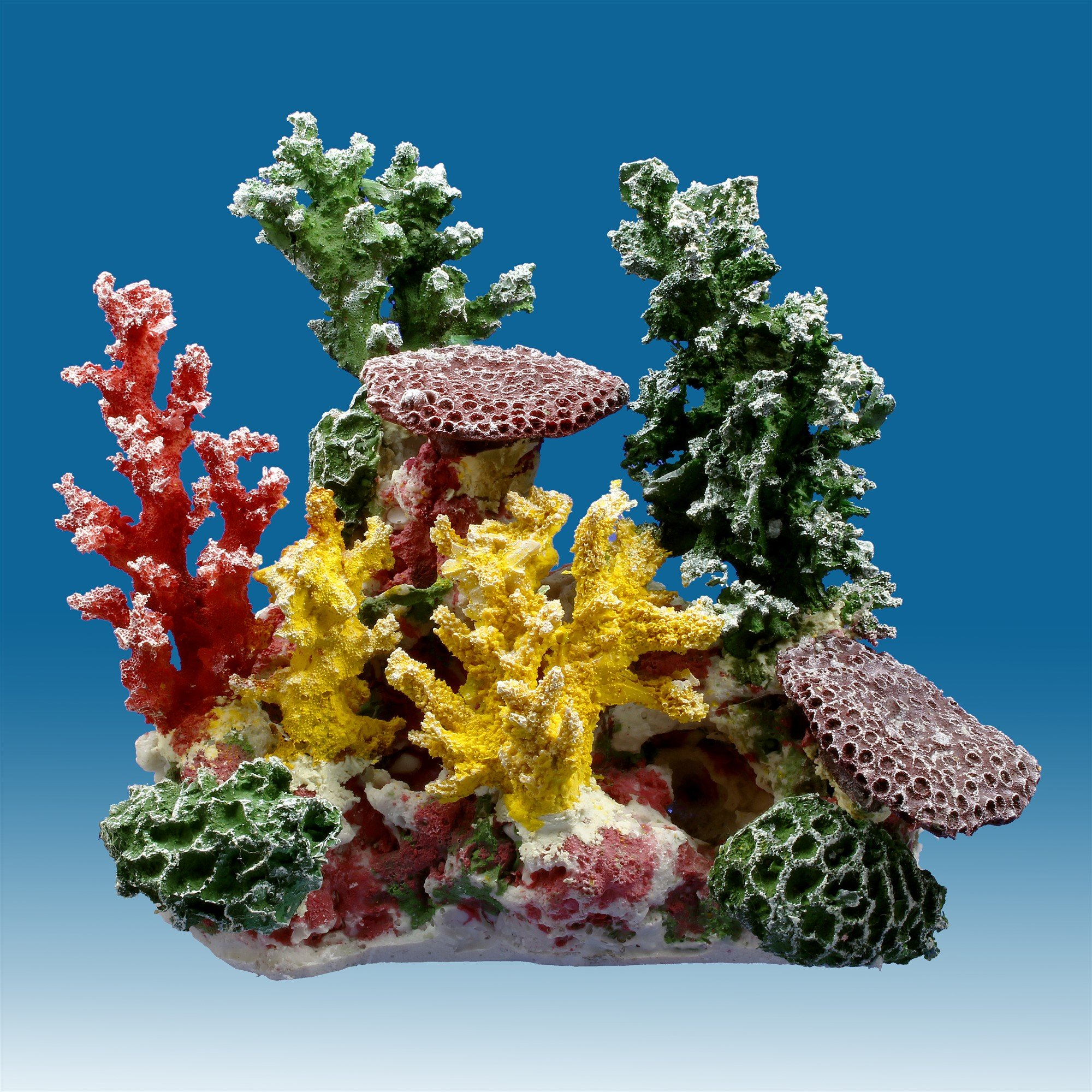 Instant Reef DM058 Artificial Coral Inserts Decor, Fake Coral Reef Decorations for Colorful Freshwater Fish Aquariums, Marine and Saltwater Fish Tanks by Instant Reef