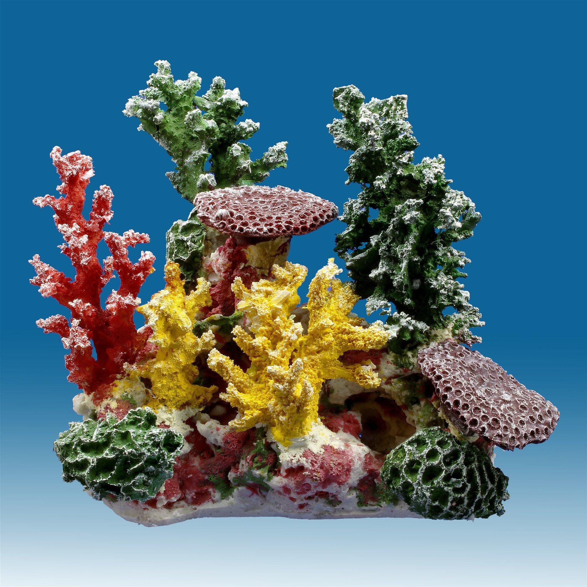 Besimple Artificial Coral Ornament Glowing Effect Resin Aquarium Plants Coral Aquarium Fish Tank Decorations
