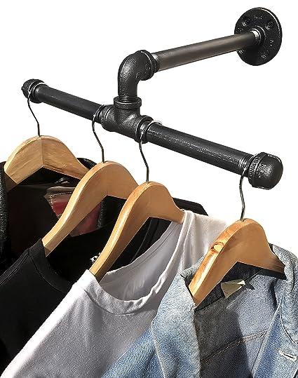 Amazon Com Diy Cartel Industrial Pipe Wall Mount Clothing Garment