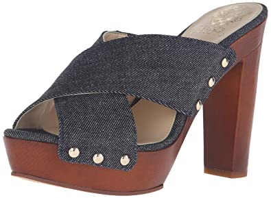 Vince Camuto Women's Elora Platform Dress Sandal, Dark Indigo Denim, ...