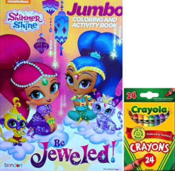 "Amazon.com: Shimmer And Shine Jumbo Coloring And Activity Book "" Be ..."