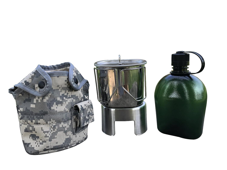 jolmo Lander militares cantimplora 1 litro y Cantina taza de ...