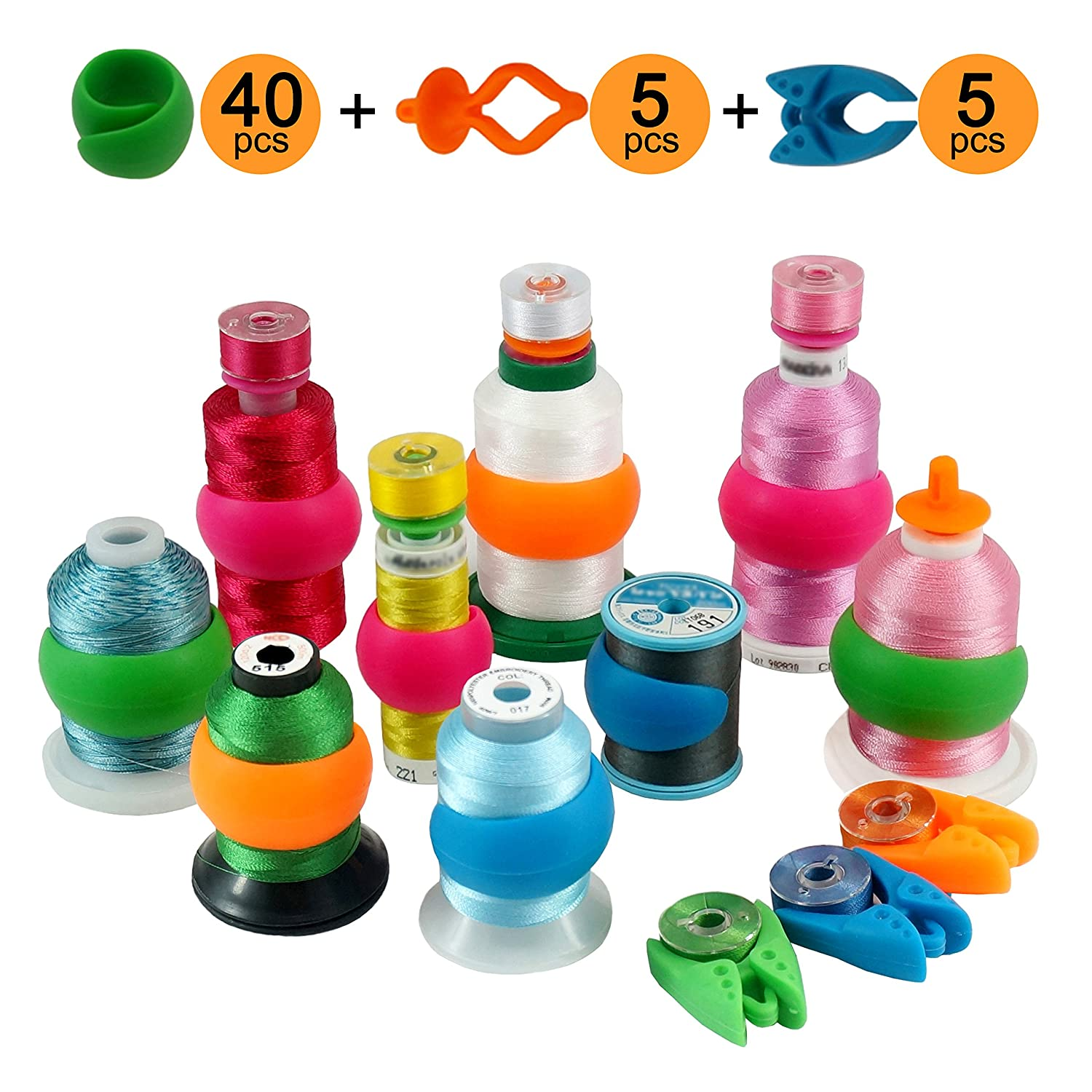 Prevent Thread Tails from Unwinding New brothread 20pcs Thread Spool Huggers No Loose Ends for Sewing and Embroidery Machine Thread Spools