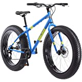Mongoose Dolomite Mens Fat Tire Mountain Bike, 26-Inch Wheels, 4-Inch Wide Knobby Tires, 7-Speed, Steel Frame, Front and Rear