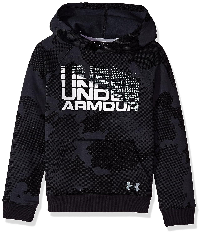 Under Armour Boys Rival Wordmark Hoodie Under Armour Apparel 1318222-P
