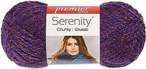 Premier Yarns Deborah Norville Collection Serenity Chunky Weight Heathers Yarn: Deep Waters