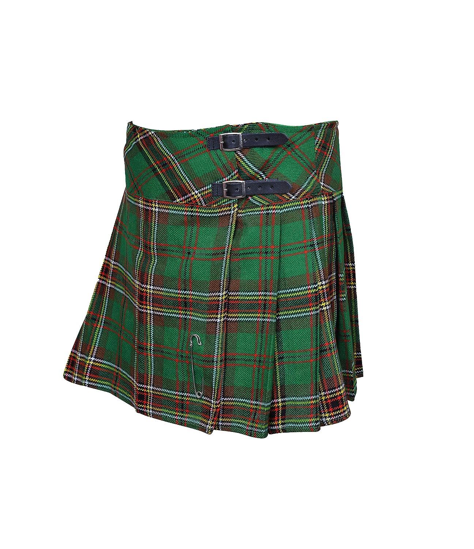 CLOUD KILT Ladies Tartan Plated Billie Kilt Skirts 16 /& 18 inch Length with Free Pin !.