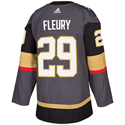 12c8e2bcc Marc-Andre Fleury Vegas Golden Knights Adidas NHL Men s Authentic Grey  Jersey