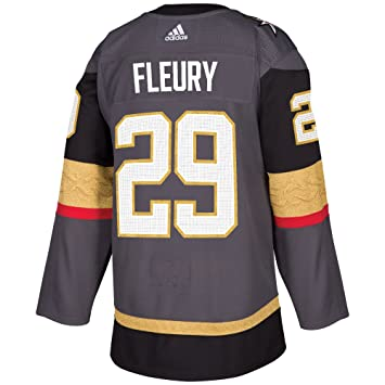 e73d2511a Marc-Andre Fleury Vegas Golden Knights Adidas NHL Men s Authentic Grey  Jersey
