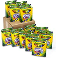 Crayola 52-4600 Ultra-Clean Washable Large Crayons, Bulk Set, 12 Packs of 16 Count