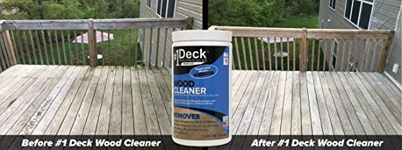 Amazon 1 Deck Wood Cleaner 2 25 lbs Makes 5 Gallons of