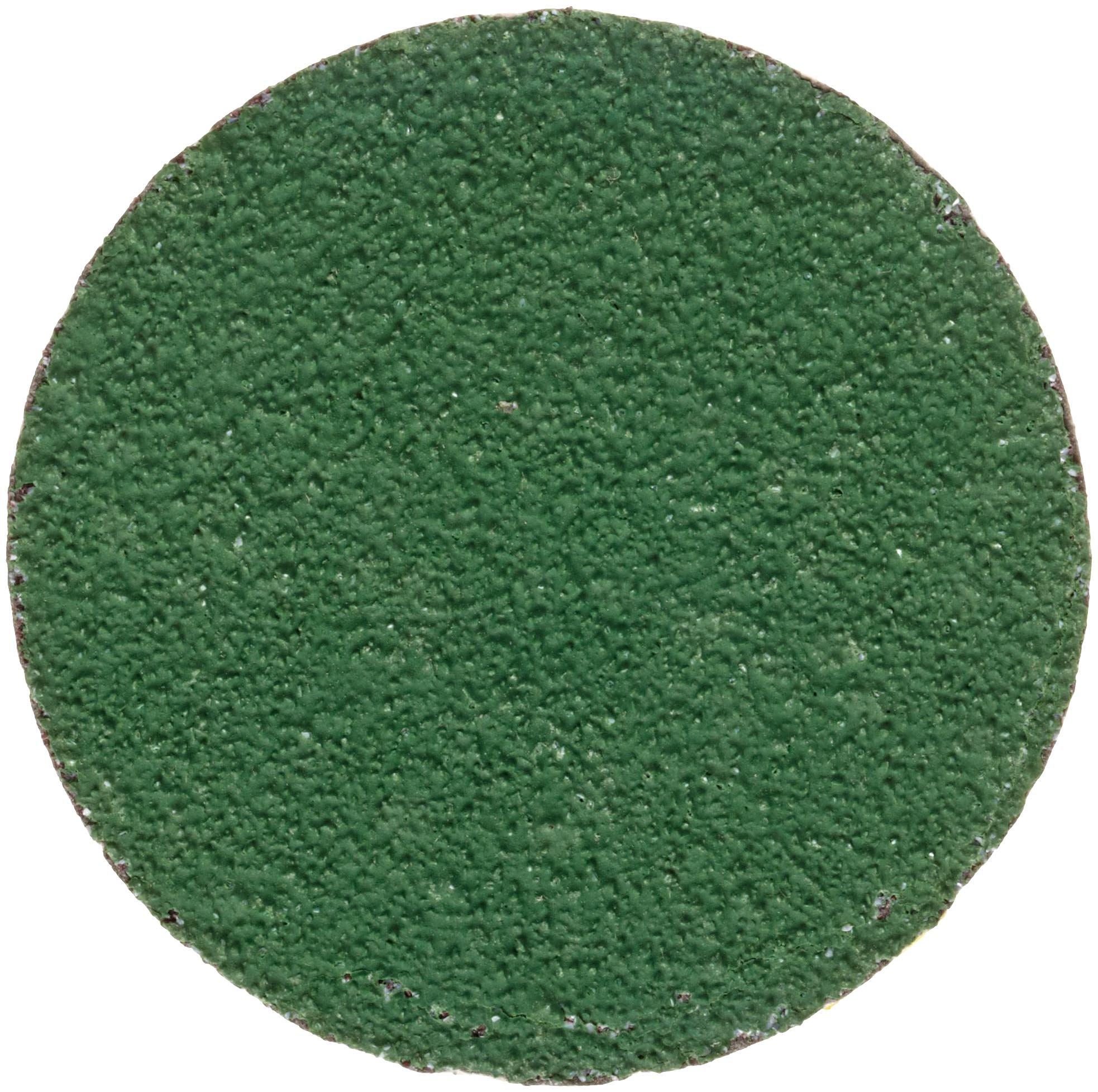 Merit Zenith Abrasive Disc, Resin Bond, Fiber Backing, Type II, Ceramic Aluminum, 2'' Diameter, Grit 60 (Box of 100)