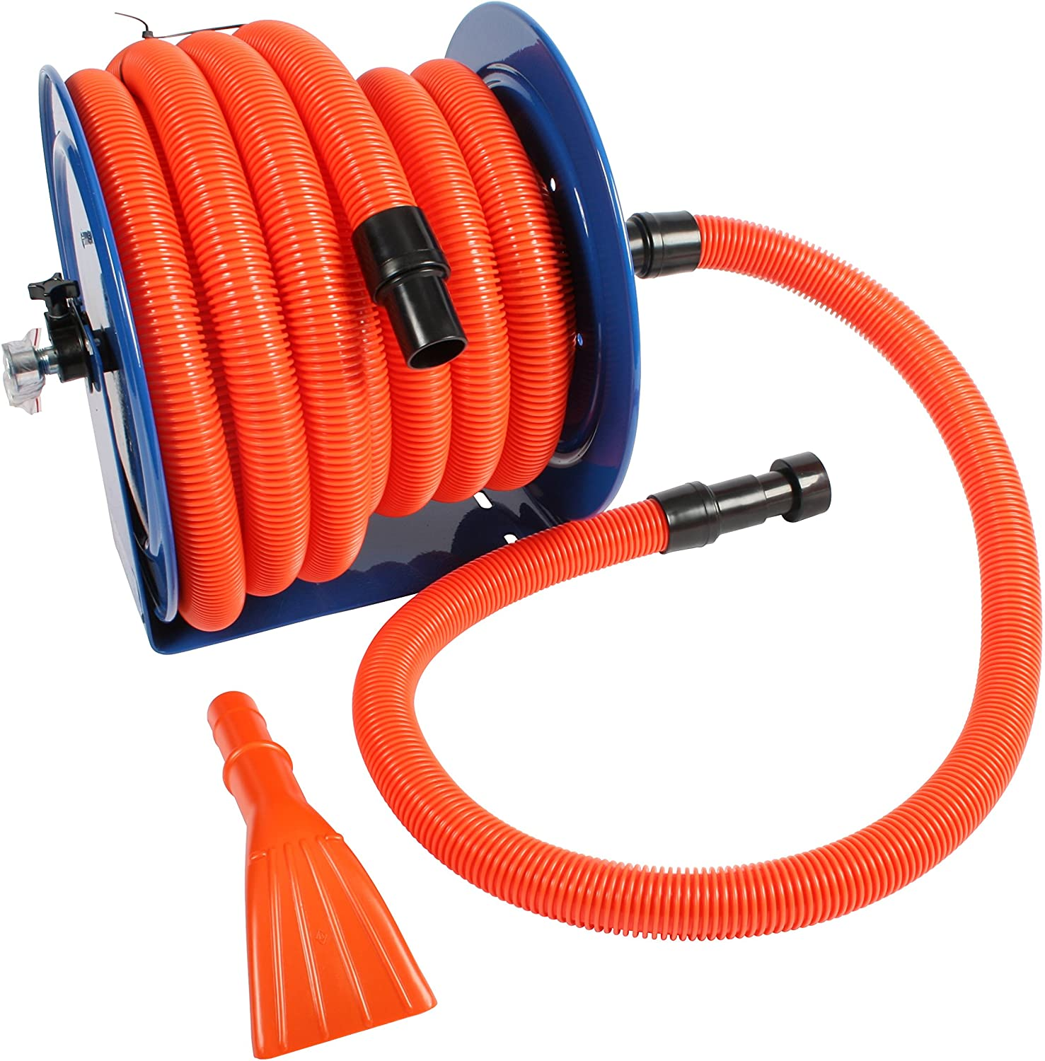 Cen-Tec Systems Industrial Hose Reel and 50 Ft. Hose for Shop Vacuums