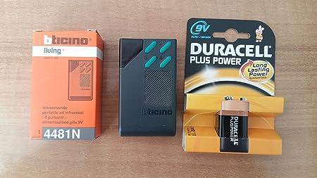 BTICINO 4481N LIVING telecomando portatile infrarossi 4 pulsanti infrared remote