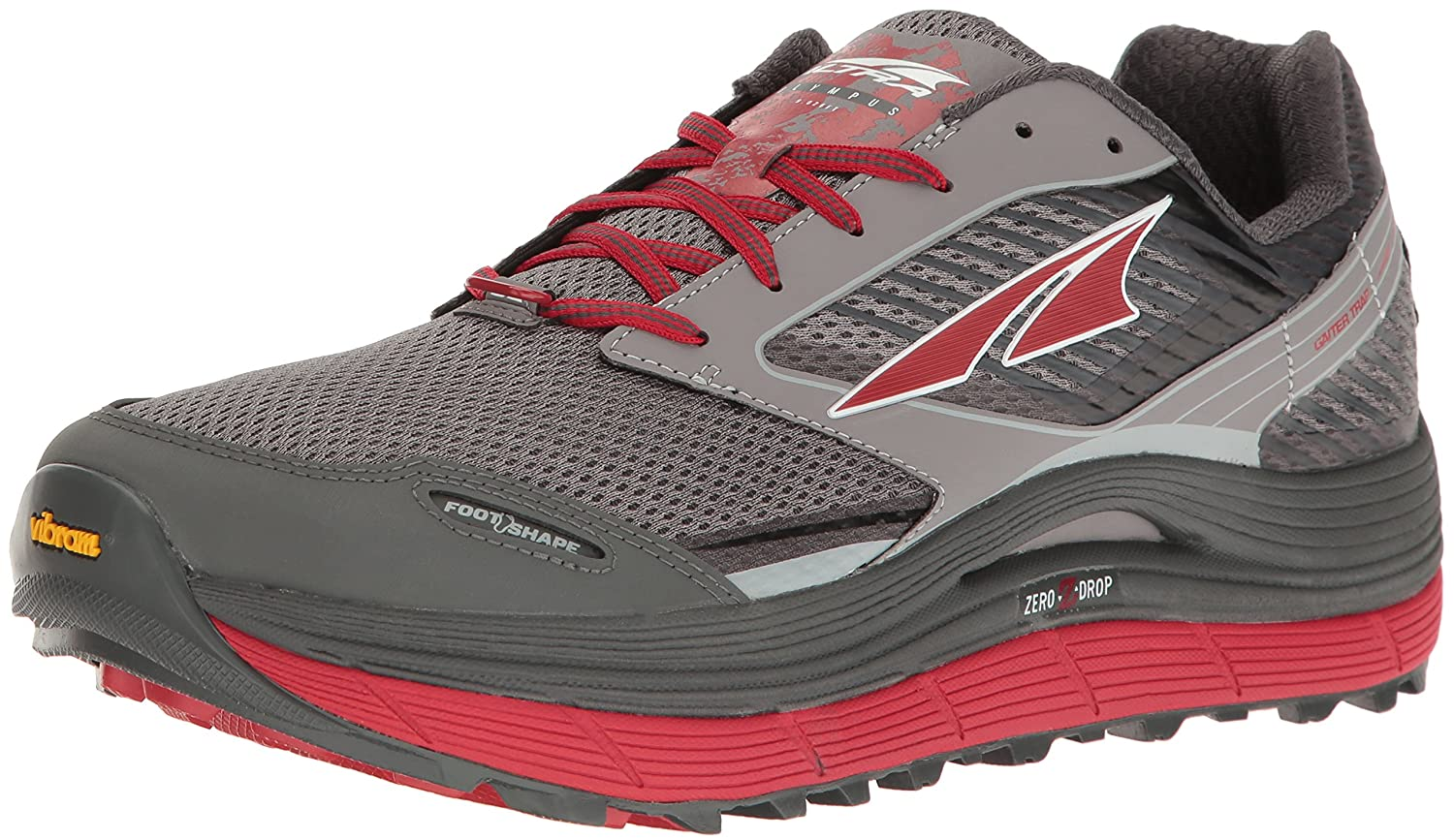 Black Red Altra Men's Olympus 2.5 Running-shoes