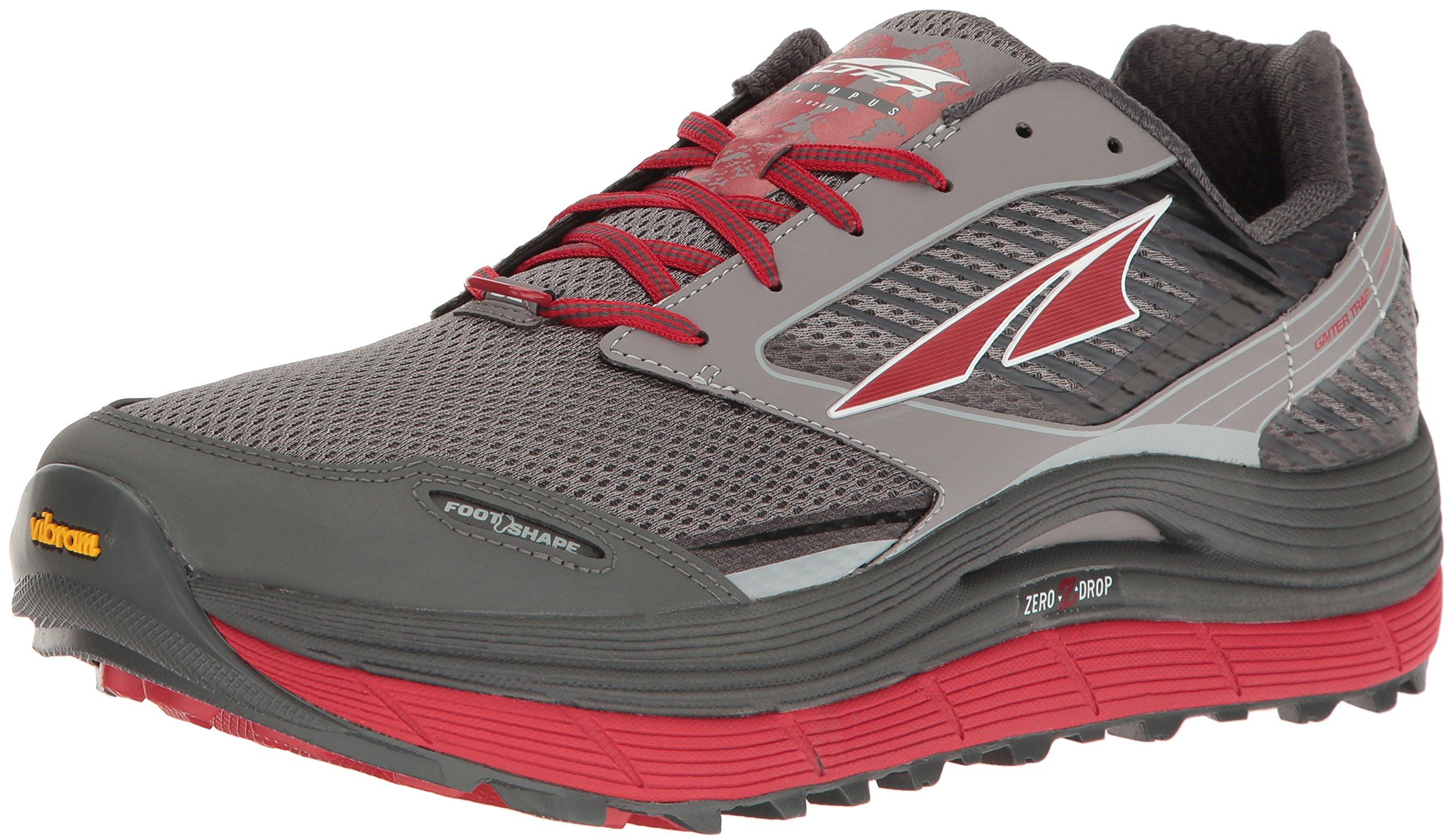 Altra Men's Olympus 2.5 Running-Shoe, Black/Red, 10.5 D US