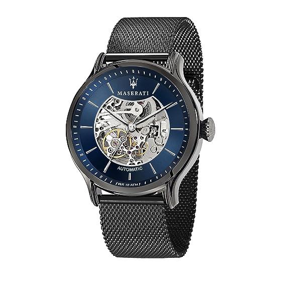 MASERATI Reloj Analógico para Hombre de Automático con Correa en Acero Inoxidable R8823118002: Amazon.es: Relojes