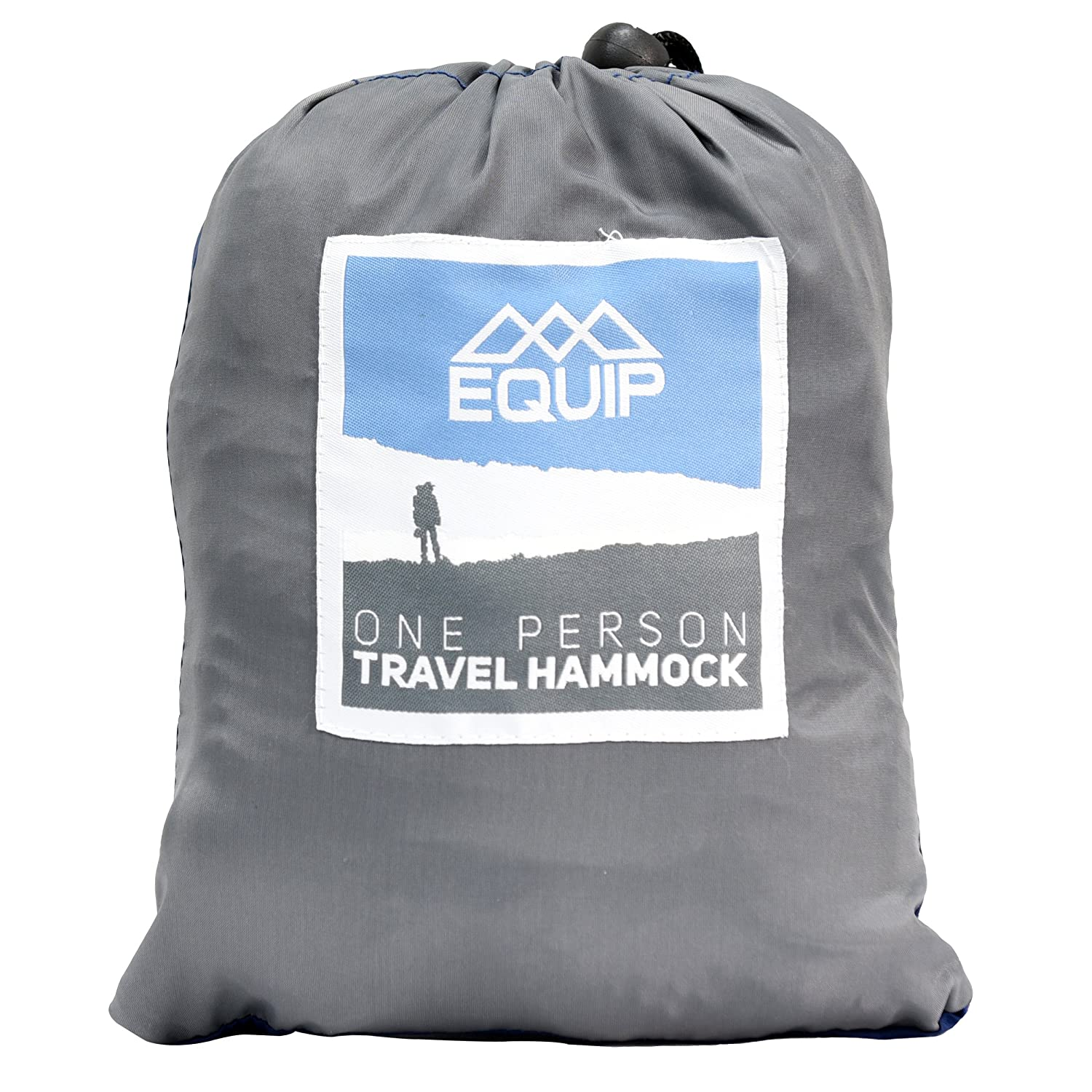 Equip Portable Lightweight One Person Hammock with Included Hanging Kit