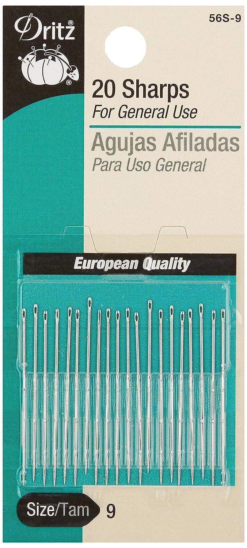 Dritz 56S-8 20-Piece Sharps Hand Needles, Size 8 Prym Consumer USA