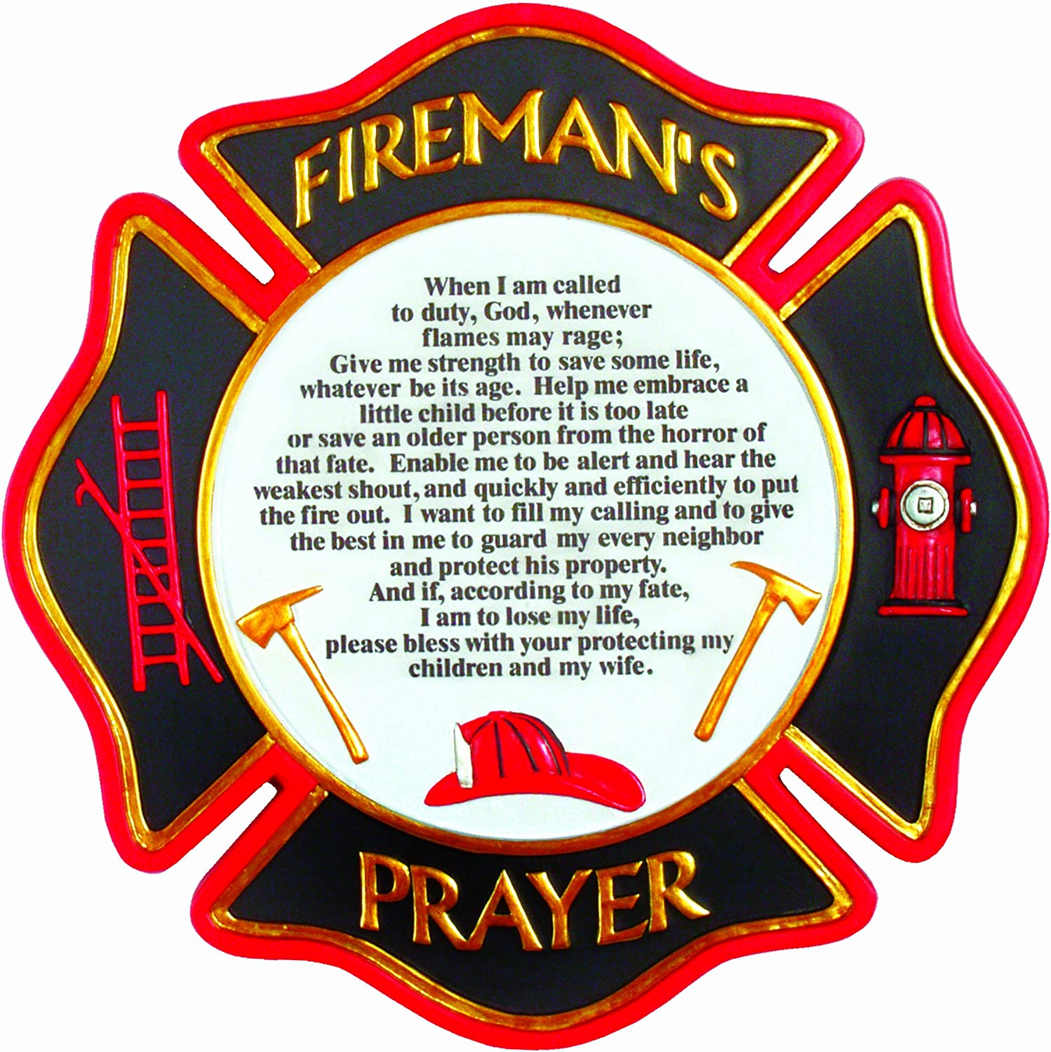 Spoontiques Fireman's Prayer Stepping Stone