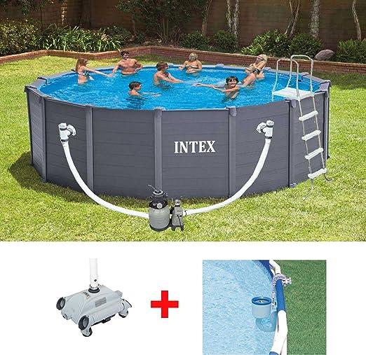 Oferta piscina fuoriterra Intex 28382 Graphite 478 x 124 cm + ...